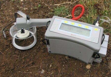 Sistem portabil inteligent pentru respiratia solului